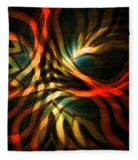 Fractal Swirl Fleece Blanket