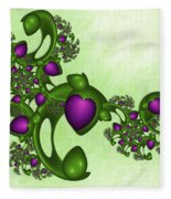 Fractal Tears Of Joy Fleece Blanket
