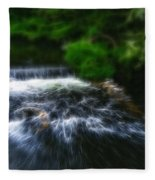 Fractalius - River Wye Waterfall - In Peak District - England Fleece Blanket