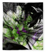 Fractured Bloom  Fleece Blanket