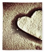 Imprint On My Heart Fleece Blanket