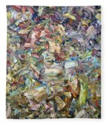 Roadside Fragmentation Fleece Blanket