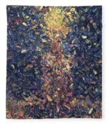 Fragmented Flame Fleece Blanket