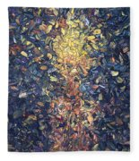 Fragmented Flame - Square Fleece Blanket