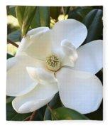 Fragrant Magnolia Fleece Blanket
