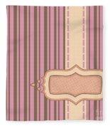 Frame With Ribbon Pinstripe Vector Fleece Blanket