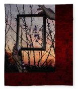 Framed Cherry Blossoms - Featured In Comfortable Art And Nature Groups Fleece Blanket