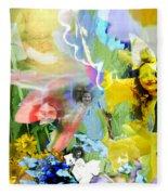 Framed In Flowers Fleece Blanket
