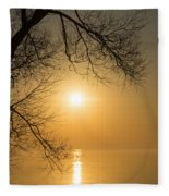 Framing The Golden Sun Fleece Blanket