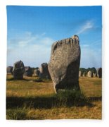 France Brittany Carnac Ancient Megaliths  Fleece Blanket