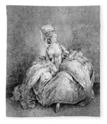 France Court Life, 1778 Fleece Blanket