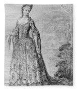 France Fashionable Lady Fleece Blanket