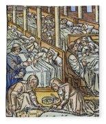 France: Hospital, C1500 Fleece Blanket