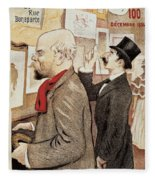 France Paris Poster Of Paul Verlaine And Jean Moreas Fleece Blanket