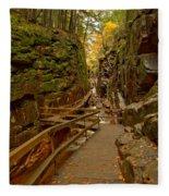 Franconia Notch Flume Gorge Boardwalk Fleece Blanket