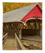 Franconia Notch Flume Gorge Bridge Fleece Blanket