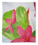 Frangipani Tree Fleece Blanket