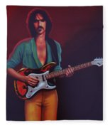 Frank Zappa Fleece Blanket by Paul Meijering