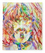 Frank Zappa Watercolor Portrait.1 Fleece Blanket