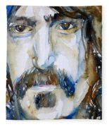 Frank Zappa Watercolor Portrait.2 Fleece Blanket