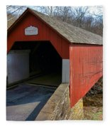 Frankenfield Covered Bridge Fleece Blanket