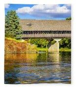 Frankenmuth Covered Bridge Fleece Blanket