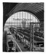 Frankfurt Bahnhof - Train Station Fleece Blanket