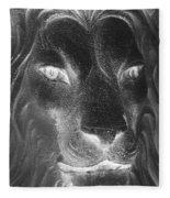 Frankie Lion Negative Fleece Blanket
