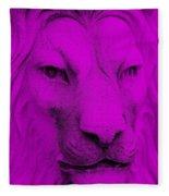 Frankie Lion Purple Fleece Blanket