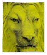 Frankie Lion Yellow Fleece Blanket