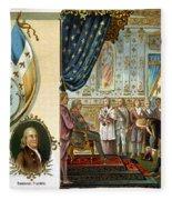 Franklin At Versailles Fleece Blanket