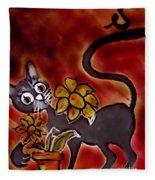 Freddy The Cat Fleece Blanket