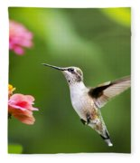 Free As A Bird Hummingbird Fleece Blanket
