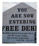 Free Derry Corner, Republican Political Fleece Blanket