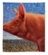 Free Range Pig Fleece Blanket