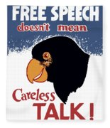 Free Speech Doesn't Mean Careless Talk Fleece Blanket