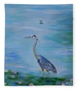 Free Spirit Blue Heron Fleece Blanket