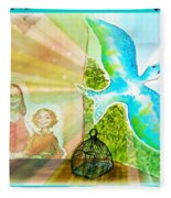 Free Spirit Dreamscape - Within Border Fleece Blanket