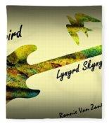 Freebird Lynyrd Skynyrd Ronnie Van Zant Fleece Blanket