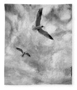 Freedom Impasto Bw Fleece Blanket