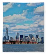 Lower Manhattan Fleece Blanket