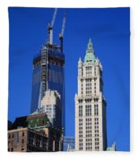 Freedom Tower And Woolworth Building Fleece Blanket