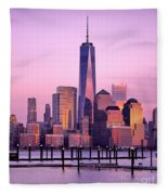 Freedom Tower Nyc Fleece Blanket