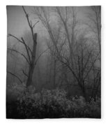 Freezing Rogue Valley Fog At Night Fleece Blanket