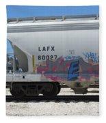 Freight Train Graffiti 7 Fleece Blanket