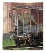 Freight Train Wheels 12 Fleece Blanket
