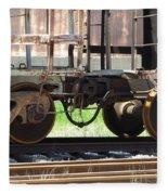 Freight Train Wheels 13 Fleece Blanket