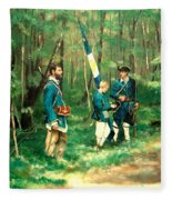 French And Indian War Fleece Blanket