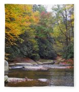 French Broad River In Fall Fleece Blanket
