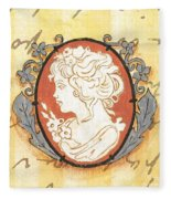 French Cameo 2 Fleece Blanket